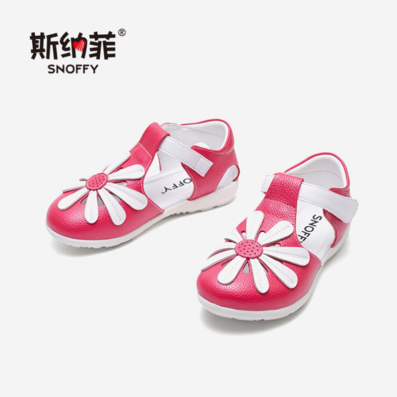 Children Shoes Girls Genuine Leather Sandal Close Toe Princess Shoes Toddler Girls Sandals Kids Beach Shoes Arch Support  TX464