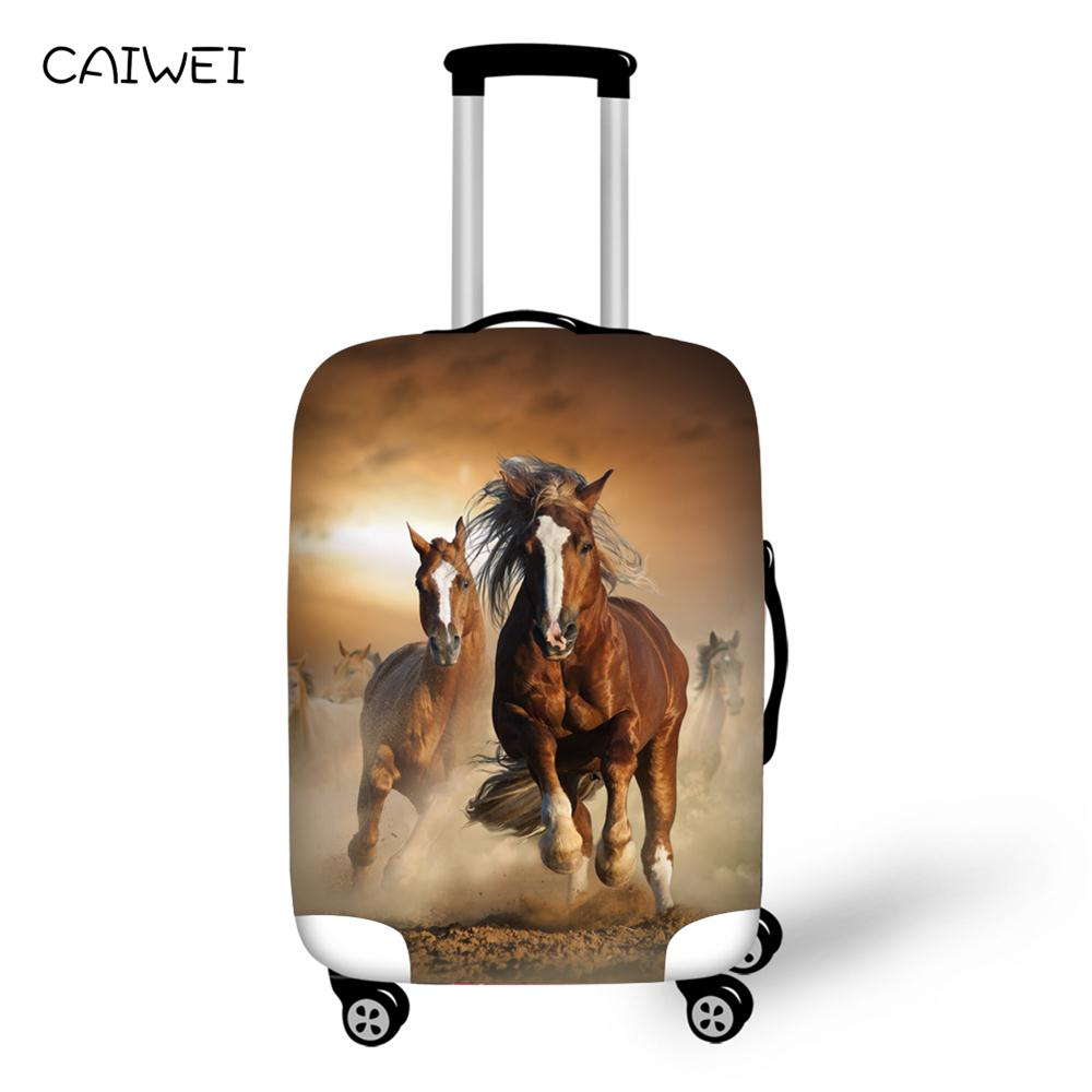 Luggage Cover So Cool Style Sea Horse Protective Travel Trunk Case Elastic Luggage Suitcase Protector Cover