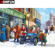 HOMFUN 5D DIY Diamond Painting Full Square/Round Drill Town scenery Embroidery Cross Stitch gift Home Decor Gift A08302 homfun 5d diy diamond painting full square round drill woman scenery embroidery cross stitch gift home decor gift a09203