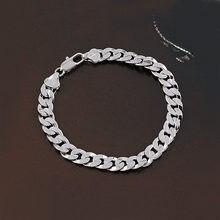 Белые золотые браслеты для мужчин Женский Браслет bijoux femme