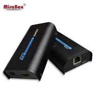 HDMI Extender Over IP/TCP UTP/STP CAT5e/6 Rj45 LAN Supporto di Rete 1080p 120m estensione Come Splitter HDMI Trasmettitore Ricevitore