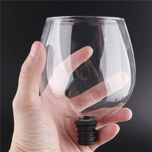 Креативная барная посуда, прозрачная, прямо для питья вина, графин, стеклянная чашка, упакованная в винную бутылку, пробки, барные инструменты