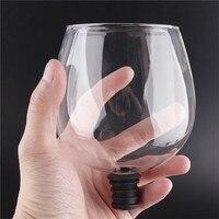 Креативная барная посуда прозрачная прямая к питьевой Вино Графин стеклянная чашка упакована в бутылки вина Пробка барный инвентарь
