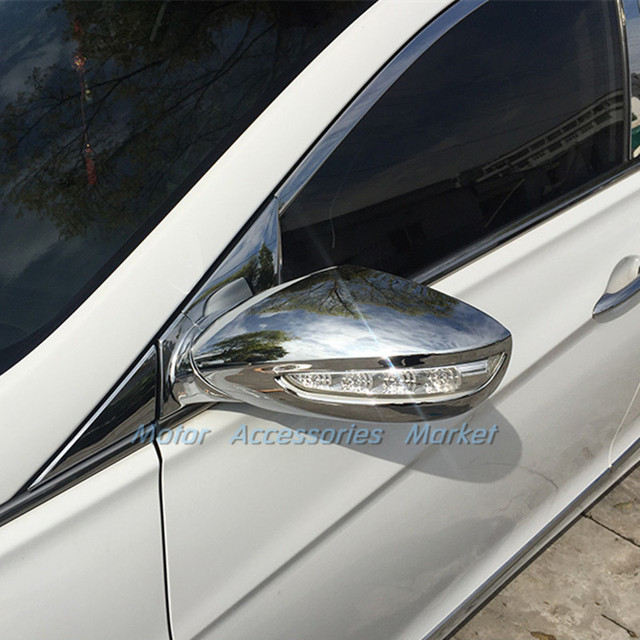 New Chrome Door Mirror Cover Trim Car Styling For Hyundai Sonata