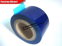 78mm 80M 0 05mm Self Adhesive Blue Protective Film For Metal Aluminum Alloy Appliance Glass Watch