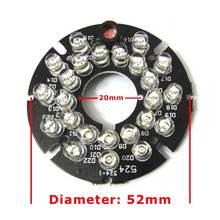 10pcs 24LEDs 5mm Infrared 60 Degrees Bulbs 850nm IR Board Illuminator 24 Leds For CCTV Camera