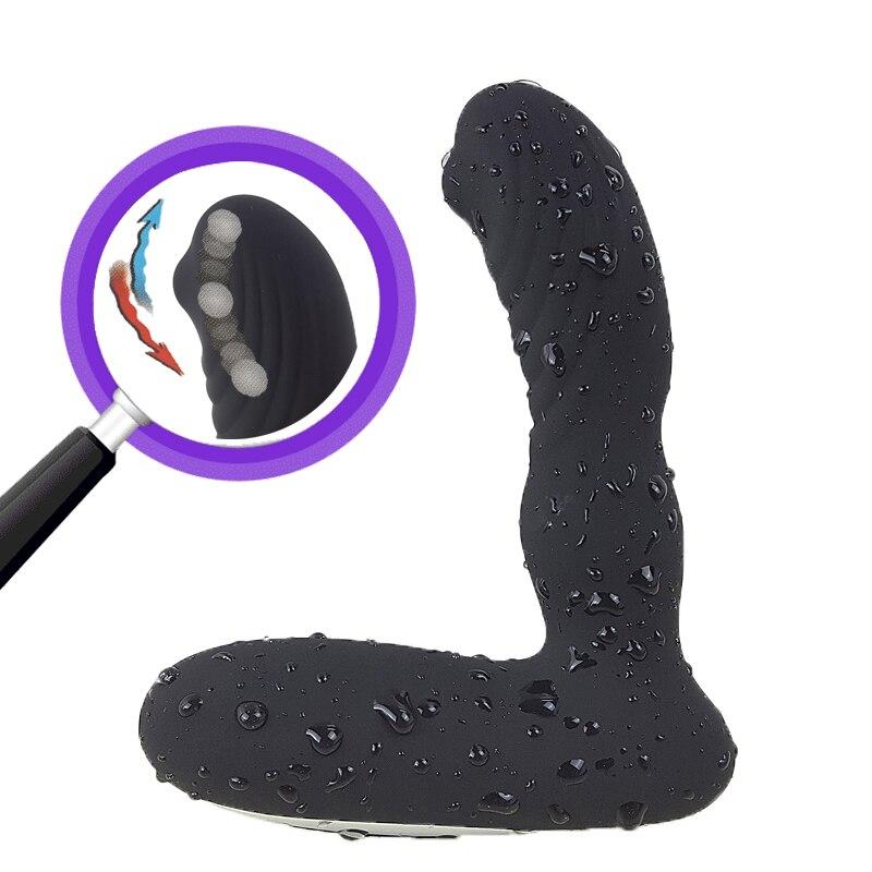 12 Speeds Prostate Massager For Men 3 Function Tickling Massage Anus, Anal Sex Toys for Gay Male Prostata Anal Vibrators for Men