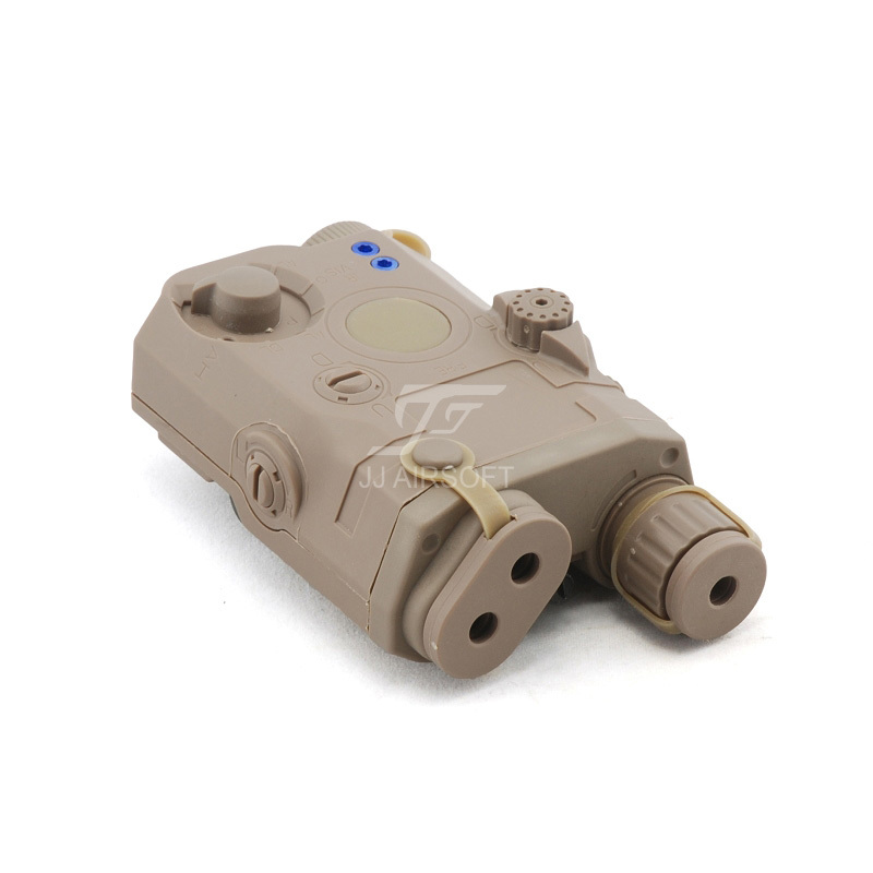 ACI PEQ 15 Battery Case with Green Laser (Tan)