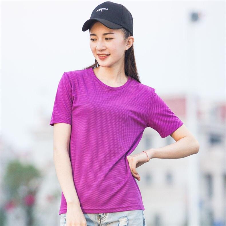 XS-5XL Fast Dry T shirts Men Women Short Male Female Fitness T-Shirts Summer Breathable Hiking Couple Sweat-shirts Man Plus Size 8