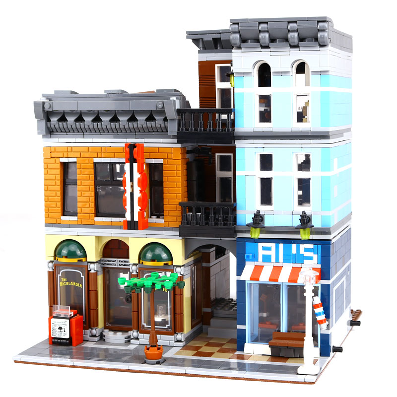 Lepin 15011 2262 Stucke Parsian Creator Expert Stadtstrabe restaurant Avengers Set Montieren Bausteine Kinderspielzeug Geschenk lepin 06058 ninja serie die tempel der ultimative ultimative waffe modell bausteine set kompatibel 70617 spielzeug fur kinder