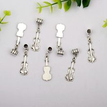 Hot Antique Silver font b Violin b font Charms Pendant Accessories Fitting Fashion Jewelry Wholesale DIY