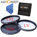 K&F CONCEPT 67mm 3pcs UV ND4 CPL Circular Polarizing Lens Filter Kit For Nikon A F-S DX Nikkor 18-105mm f/3.5 free shipping