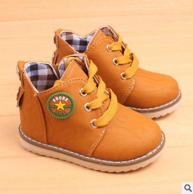 Tamaño 21-30 Primavera-Otoño niños moda niños botas de nieve botas impermeables antideslizantes zapatilla de deporte niños niñas de piel zapatos casuales
