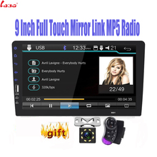 """New 9"""" Touch Mirrorlink Auto audio Player Bluetooth USB Rear View Camera 2din car radio MP5 Player One Din Autoradio No Android"""