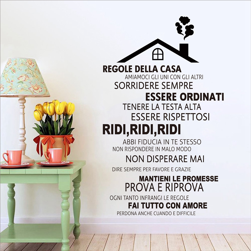 House Rules Vinyl Wall Decal Sticker In this House we love deeply