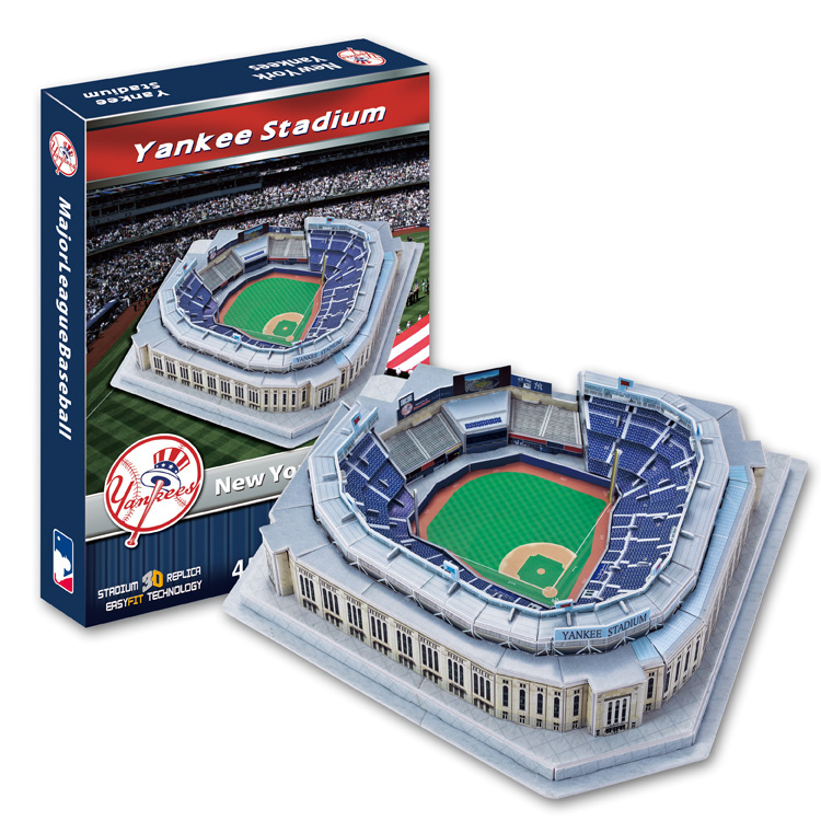 Candice Guo 3D Puzzle DIY Toy Paper Building Assemble Hand Work Game Model Baseball New York
