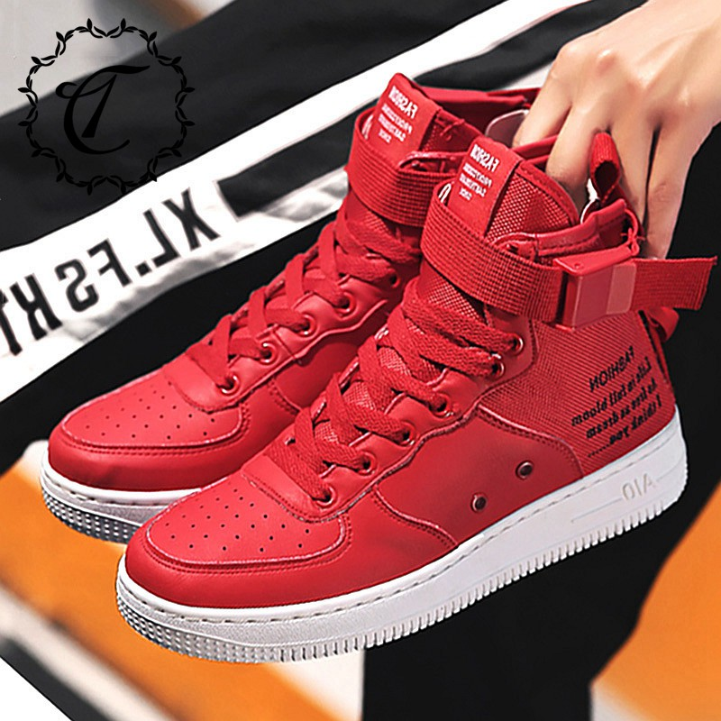 CatriCa Canvas Hot Sale High Top Quality Shoes Men Brand Designer Fashion Male Trainers 2019 Leather Sneakers Gray Red White K50