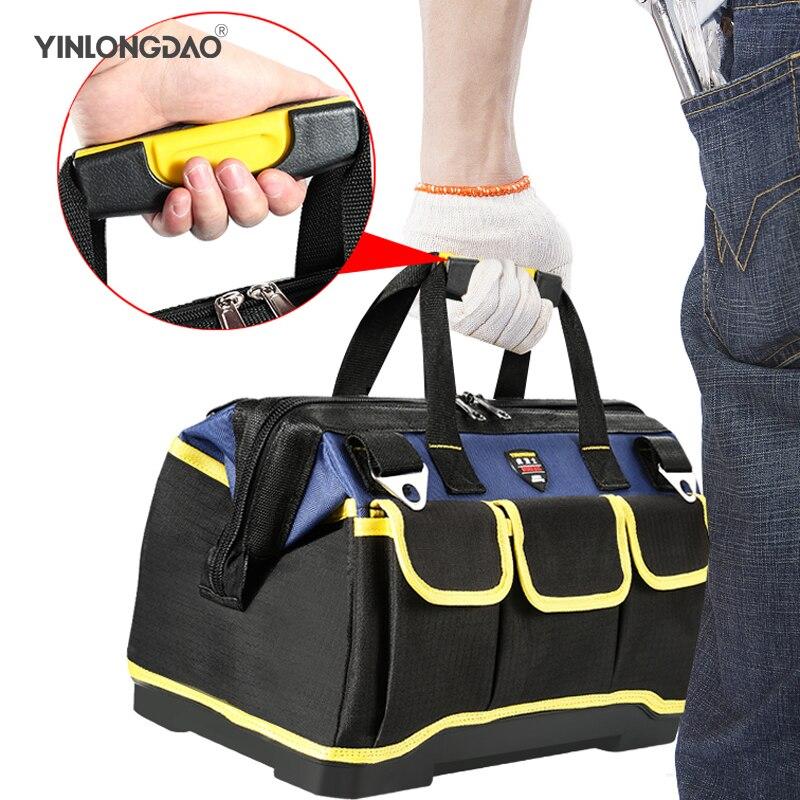 13/16/18/20 Inch Multifunction Tool Bag Large Capacity Thicken Professional Repair Tools Bag Messenger Toolkit Bag 1Pc