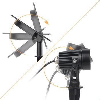 T-SUNRISE LED Solar Garden Light IP65 Waterproof RGB Solar Lamp Outdoors Solar Spotlight For Garden Decoration Wall Light 3