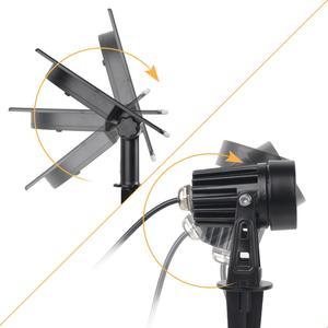 Image 3 - T SUNRISE luz LED Solar para jardín IP65 impermeable, lámpara Solar RGB para exteriores, foco Solar para decoración de jardín, luz de pared