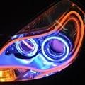 1 Pcs LED Luzes de Tira estilo Do Carro 30 45 60 85 cm Luz de circulação Diurna Universal Tubo Flexível e Suave Guia Carro LEVOU 5 W 12 V