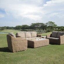 Стиль открытый сад плетеная мебель, диван для патио комплект