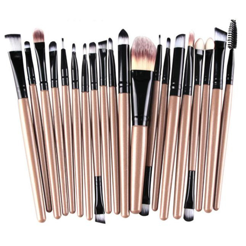Makeup Brush set pinceaux de maquillage beauty pincel maquiagem 20 pcs/set q70823 RTT vs набор треугольных спонжей для макияжа 4 шт triangular makeup sponges set kit de eponges de maquillage triangulaires