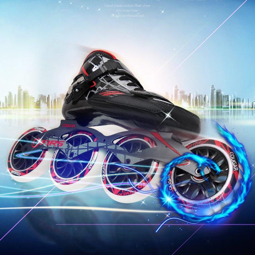 Professional Lightweight <font><b>Skate</b></font> shoes Carbon Fiber Adult Men Women Skating Roller Shoes Durable PU Wheel Skating Racing <font><b>Skates</b></font>
