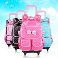Children Trolley backpacks kids school bags with wheels waterproof mochila infantil rodinha For Primary Girls
