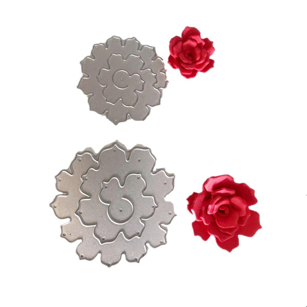 Christmas Craft Metal Cutting Dies Xmas DIY Postcards 3D Stamp Flower Corner