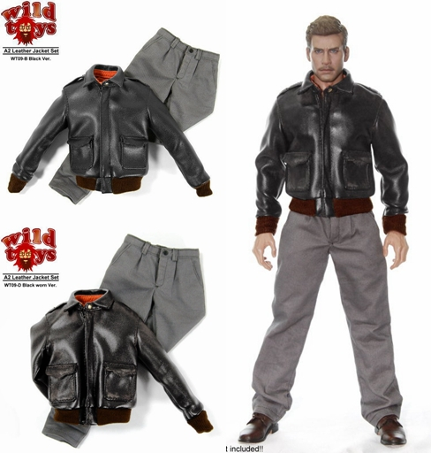 1/6 scale figure clothes for 12 Action figure doll accessories,Leather Jacket Set for Male figure.not included doll and shoes