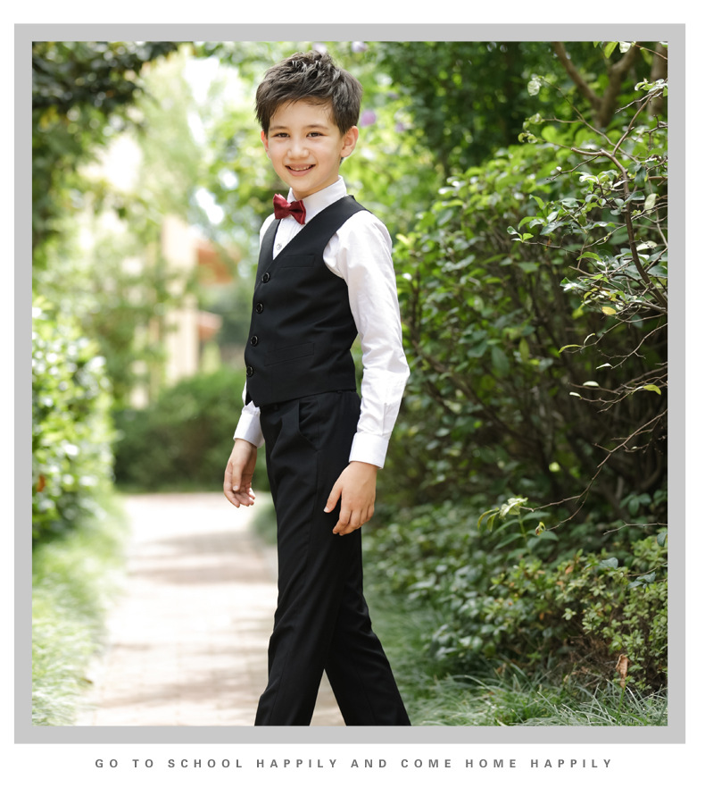 2017 Promotion Big Boys Vest Clothing Set Children Leisure Clothes Kids Wedding Prom Suits Christmas Costumes For Tie Shirt (10)