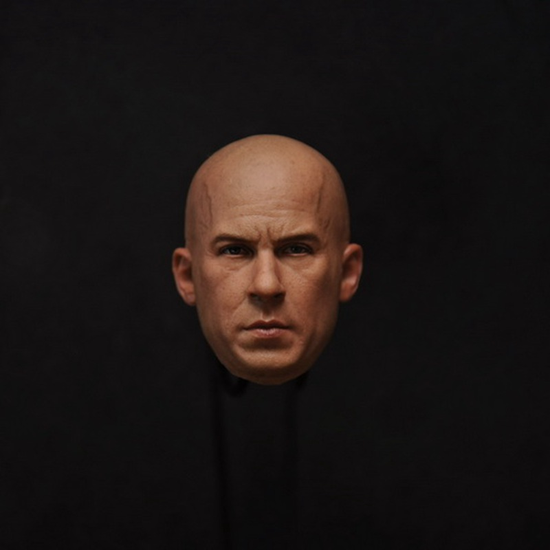 1/6 scale figure accesories Fast & Furious Vin Diesel head sculpt carved 12 Action figure doll.not include body and clothes brand new 1 6 scale fast