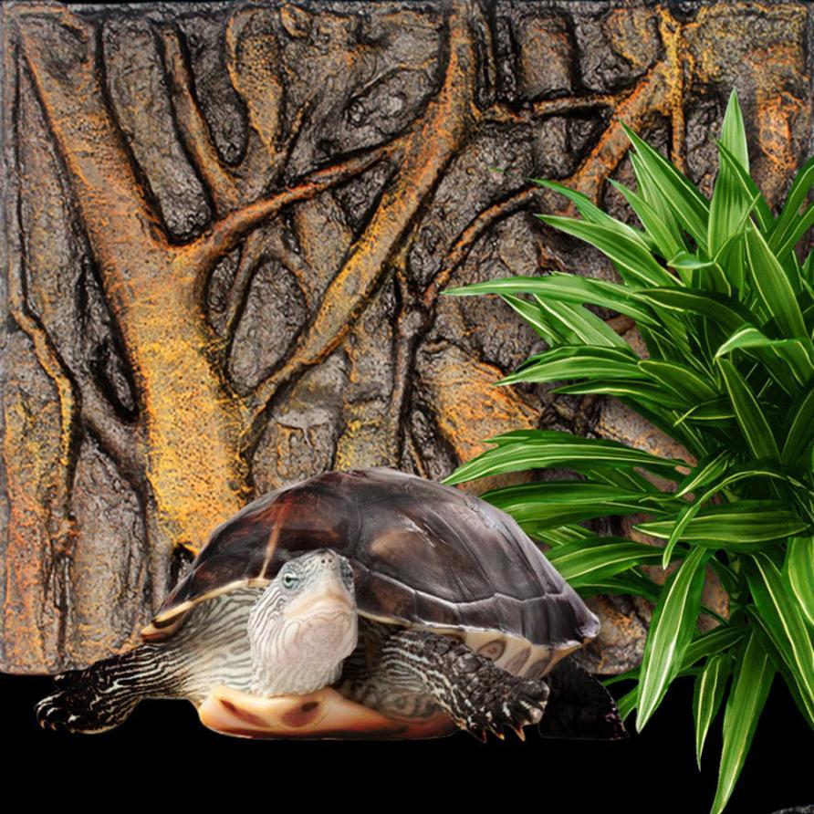 3D Foam Rock Reptile Stone Aquarium Background Backdrop Fish Tank Board Decor Drop Shipping