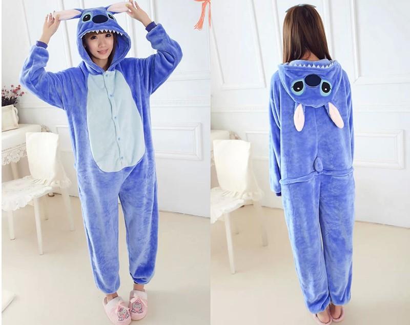 Blue stitch pajamas