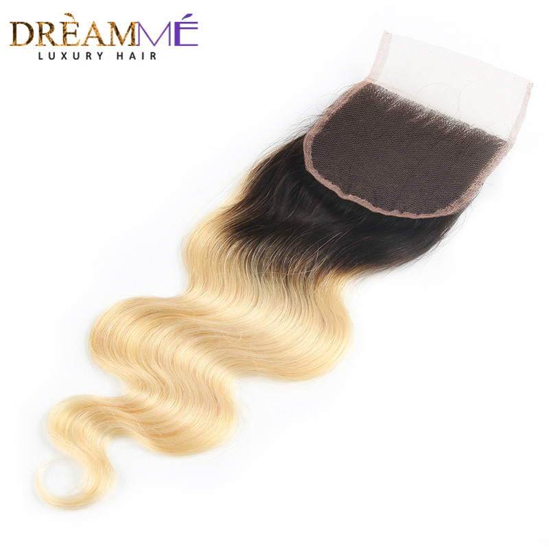 Dreamme Hair 1B / 613 Body Wave 4x4 Fermeture À Lacets Ombre - Cheveux humains (noir) - Photo 2