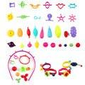 30 unids cambiar cuentas de colores diy niños de inteligencia de juguetes educativos