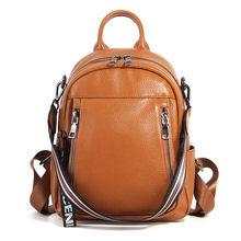 d6078008ef Nesitu Fashion Black Blue Pink Yellow Genuine Leather Women Backpacks  Female Girl Backpack Lady Travel Bag Shoulder Bags  M15833