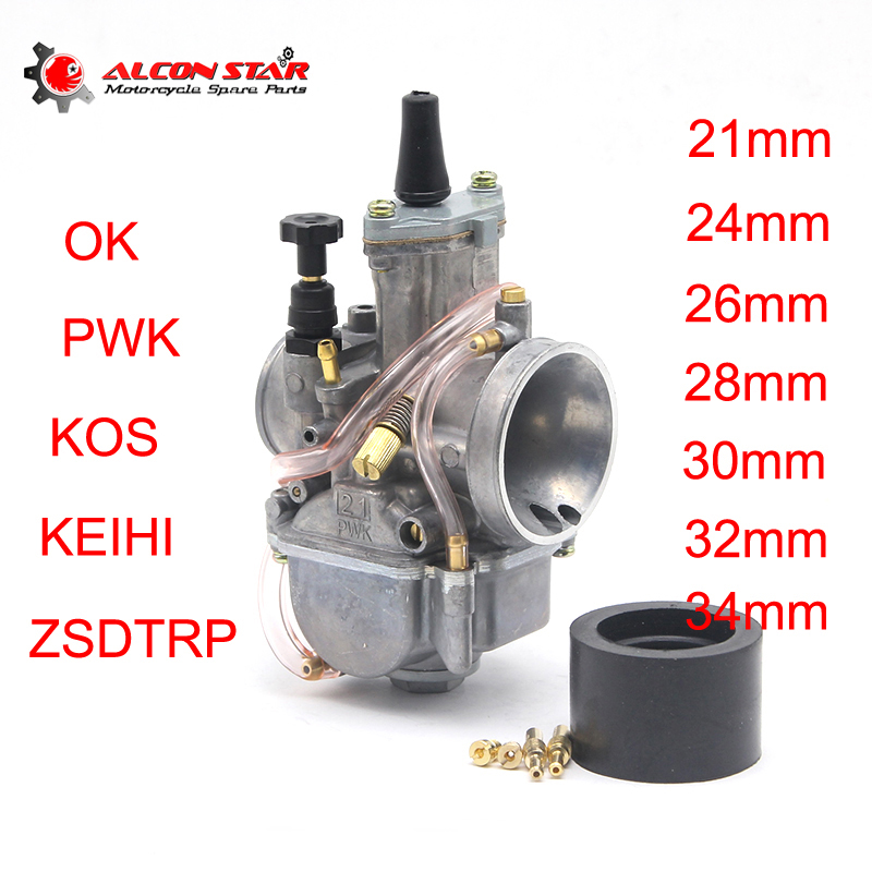 Alconstar <font><b>PWK</b></font> 21mm 24mm 26mm 28mm 30mm 32mm <font><b>34mm</b></font> For 2T 4T Moto Racing Carburetor Koso OKO Keihi With Power Jet image