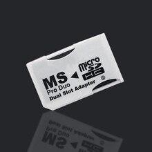 Карта памяти адаптер 2 microSD/micro SDHC карты адаптер Micro SD TF для карты памяти MS Pro Duo для psp карты белый