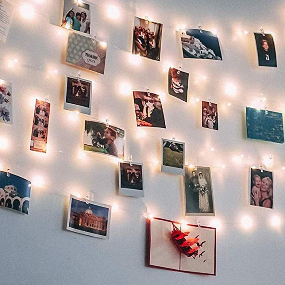 Copper Wire Photo Clip Light String Usb Christmas Starry Decorative Light String Christmas Decoration Led Modeling Light