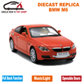 15Cm Diecast Replica Metal Car, 1/32 Scale Model, Boys Toys Gift With Openable Doors/Pull Back Function/Music/Light