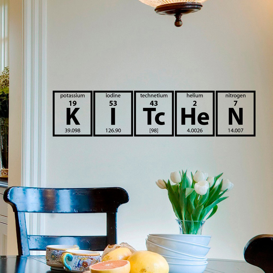Kitchen Wall Stickers Mural Periodic Table of Elements ...