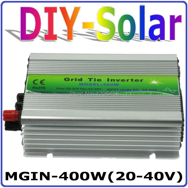 solar system 2017 New!! DC20~40V MGI 400W Grid Tie Inverter for Solar Panel 30V/60Cells, 90-260VAC Pure Sine Wave Inverter 400W micro inverters on grid tie with mppt function 600w home solar system dc22 50v input to ac output for countries standard use