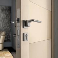 Современный входной рычажный дверной замок с ручкой, домашний вход, для ванной, атласный никель