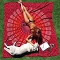 Площадь Мандала гобелен Хиппи Индийской Гобелены Чешского Шарф шали Обруча Пляж Cover Up Стене Висит Полотенце Бросок одеяло Мат