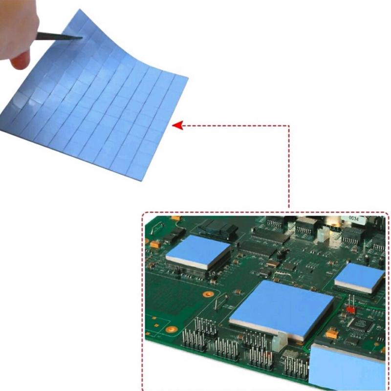 100PCS Durable 10mm*10mm*1mm Thermal Pad GPU CPU Heatsink Cooling Conductive Silicone Pad Computer Components