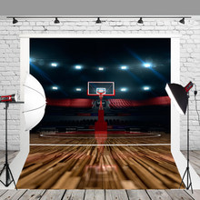 95d276a7ea HUAYI telón de fondo fotografía juego de baloncesto de fondo para la  decoración o la celebración de los tribunales y los estadio.