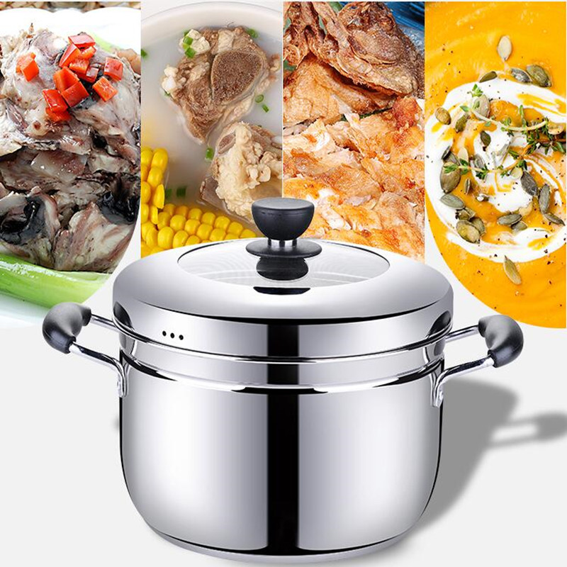 Multifunctional Cooking Pot Soup Pot Steamer With Stainless Steel Steamer Diameter 20cm For Electromagnetic Furnace Gas Stove multifunctional cooking pot soup pot steamer with stainless steel steamer diameter 20cm for electromagnetic furnace gas stove