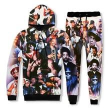 цена Brand clothing autumn hip hop sweatshirt 2pac tupac 3D print Hoodies thug life sweatshirt tupac shakur Hoodie+joggers pants онлайн в 2017 году